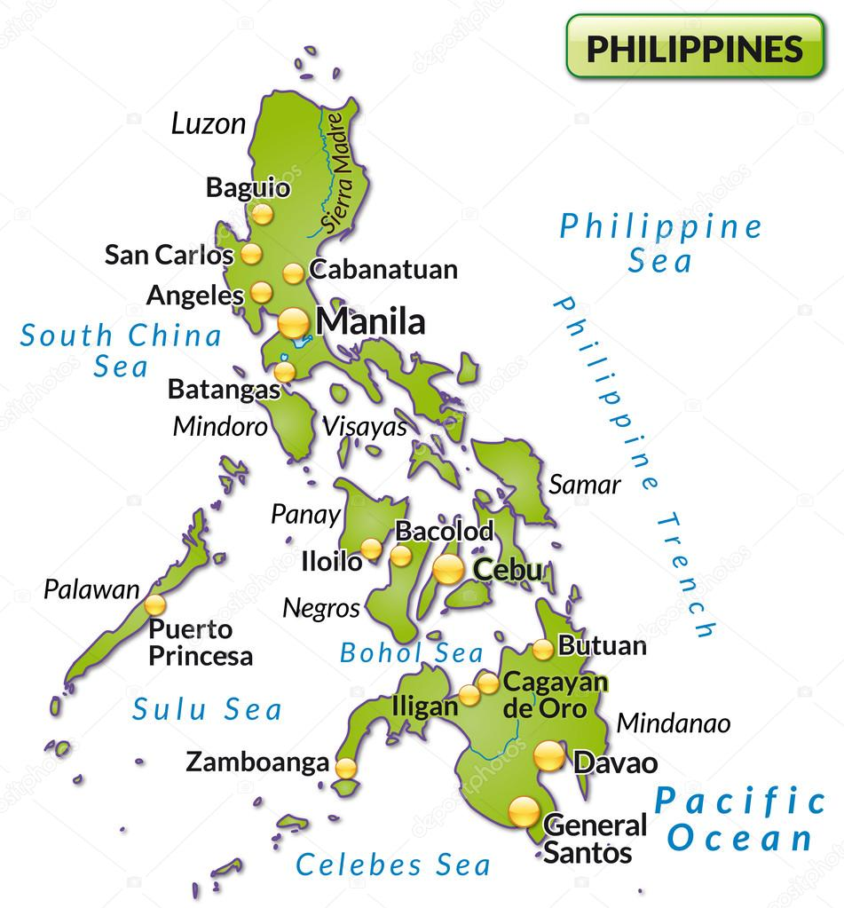 Map Of Philippines Stock Vector Artalis - Map philippines