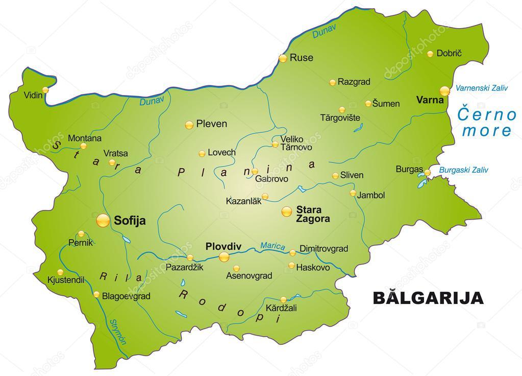 Map of Bulgaria Stock Vector artalis 39342129