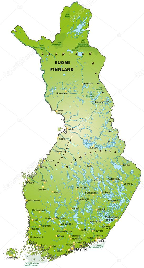Map of Finland Stock Vector artalis 39342187