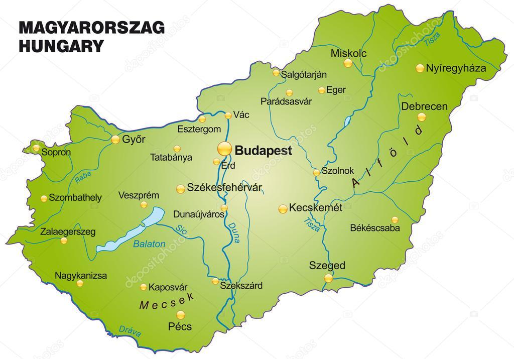 Map of Hungary Stock Vector artalis 39342237