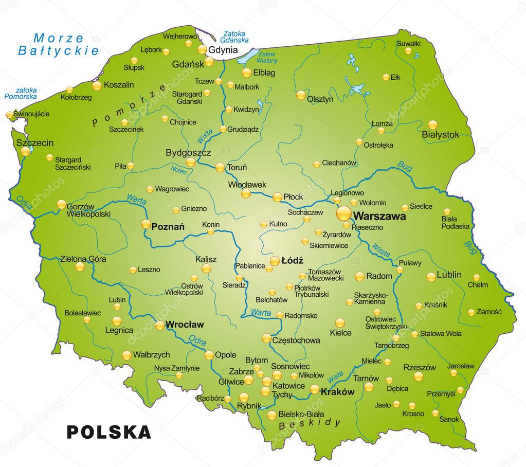 Map Of Poland Stock Vector C Artalis 39342437