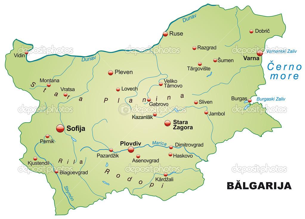 bulgária térkép Bulgária Térkép — Stock Vektor © artalis #39343879 bulgária térkép