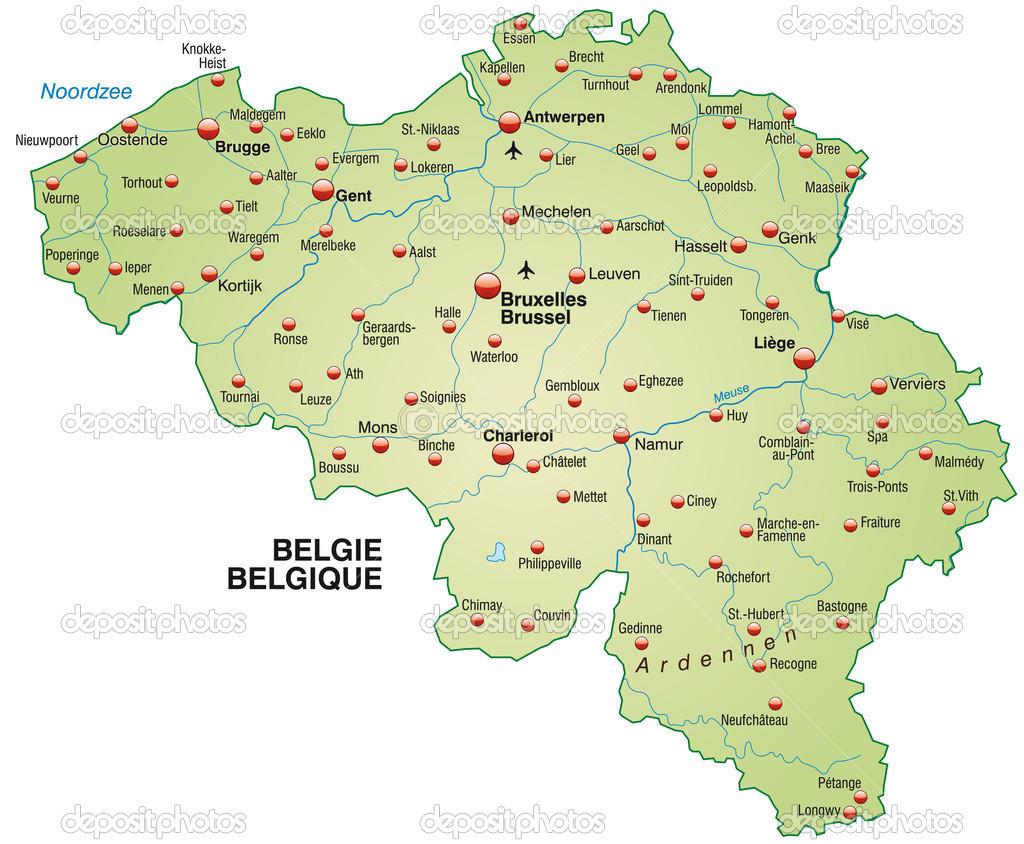 belgium térkép belgium Térkép — Stock Vektor © artalis #39343915 belgium térkép
