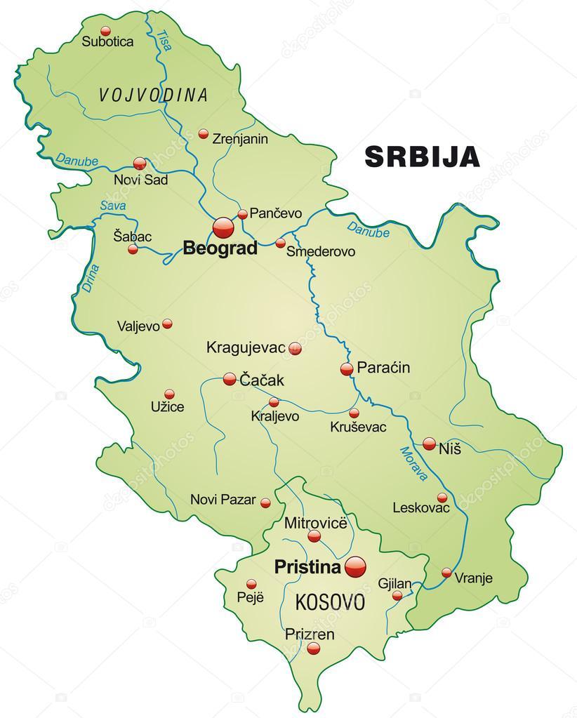 szerbia térkép Térkép Szerbia — Stock Vektor © artalis #39344063 szerbia térkép