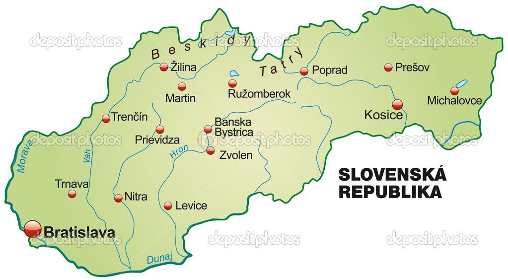 slovakien karta karta över Slovakien — Stock Vektor © artalis #39344071 slovakien karta