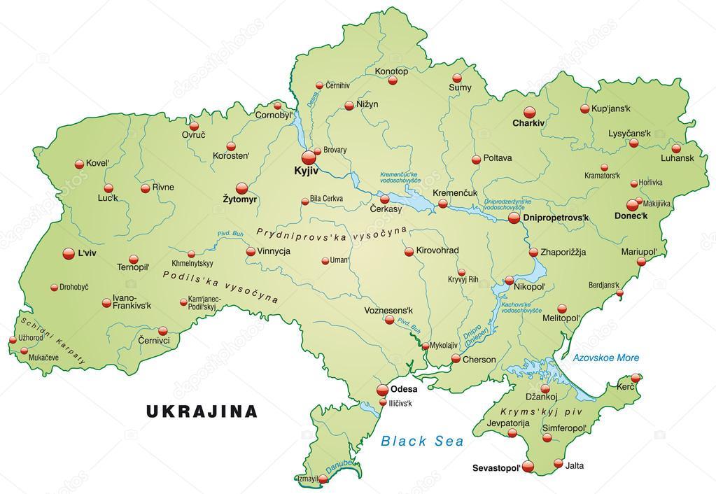 ukrajna térkép Ukrajna Térkép — Stock Vektor © artalis #39344145 ukrajna térkép