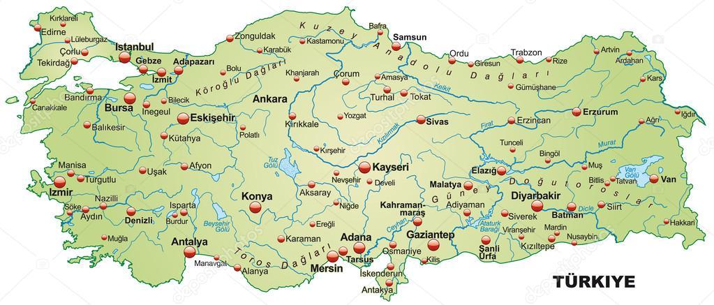 Map of Turkey Stock Vector artalis 39344161