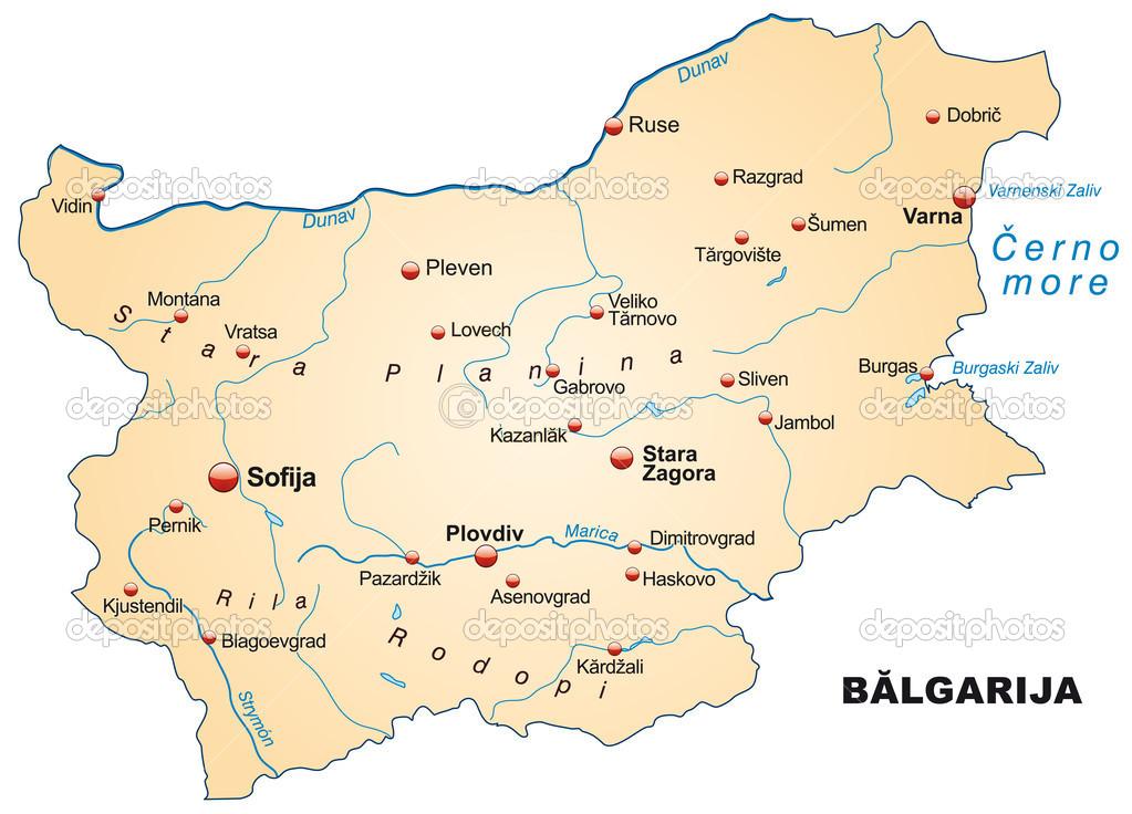 Map of Bulgaria Stock Vector artalis 39344627