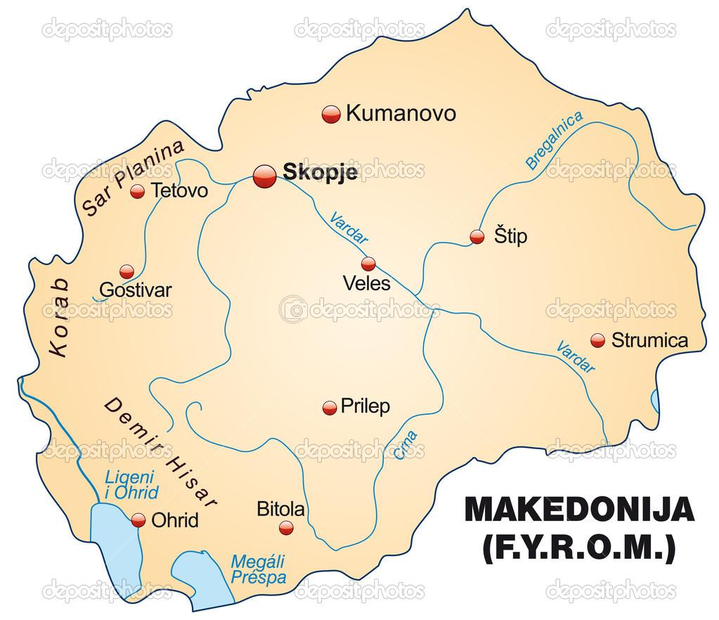 macedónia térkép Macedónia Térkép — Stock Vektor © artalis #39344769 macedónia térkép