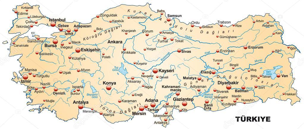 karta över turkiet karta över Turkiet — Stock Vektor © artalis #39345009 karta över turkiet
