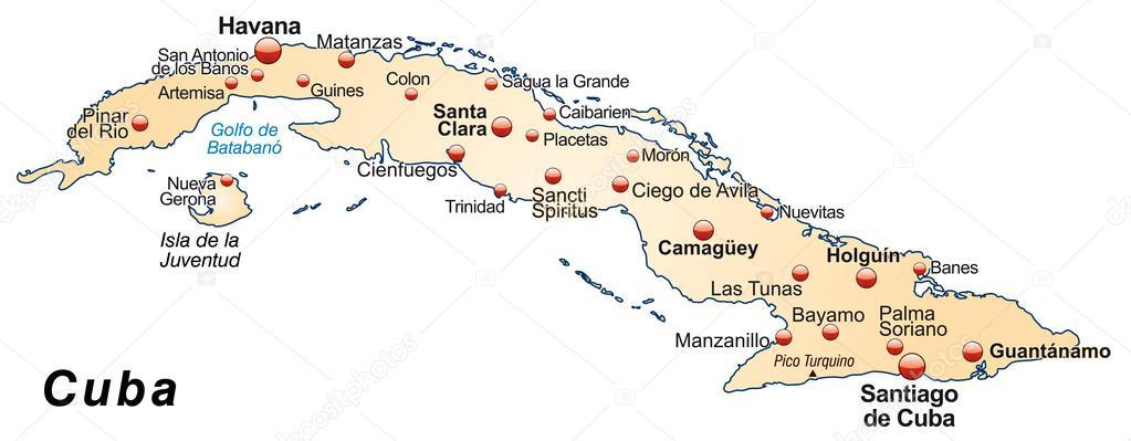 kuba térkép Kuba Térkép — Stock Vektor © artalis #39345239 kuba térkép