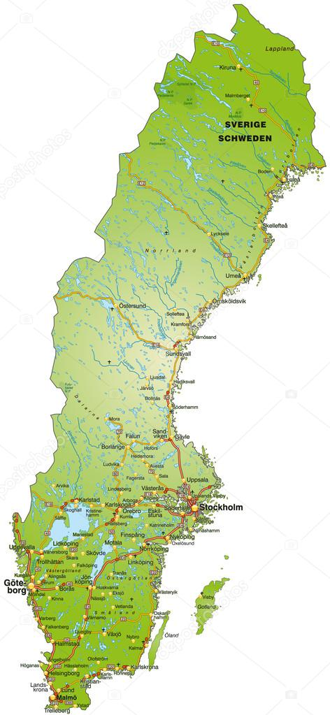 karta över sverige karta över Sverige — Stock Vektor © artalis #39346645 karta över sverige