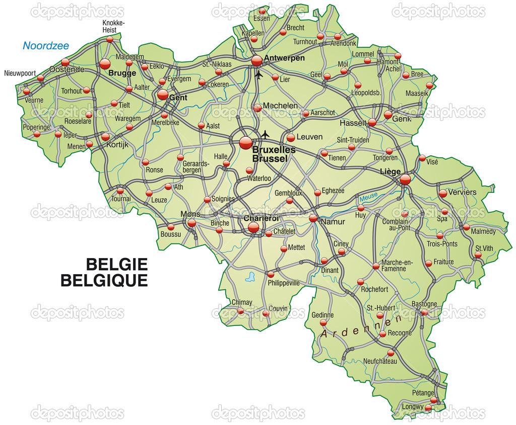 belgium térkép belgium Térkép — Stock Vektor © artalis #39347341 belgium térkép