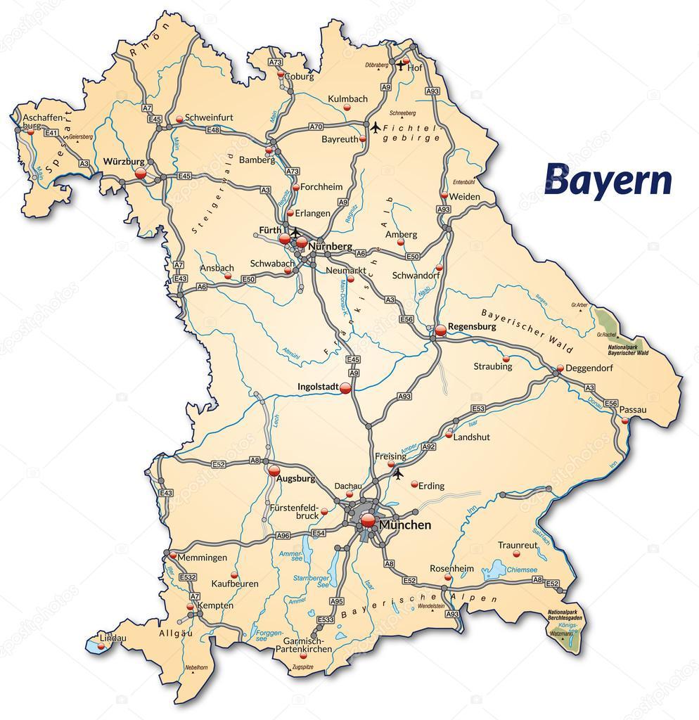 Mapa Bawaria — Grafika wektorowa © artalis #39347939