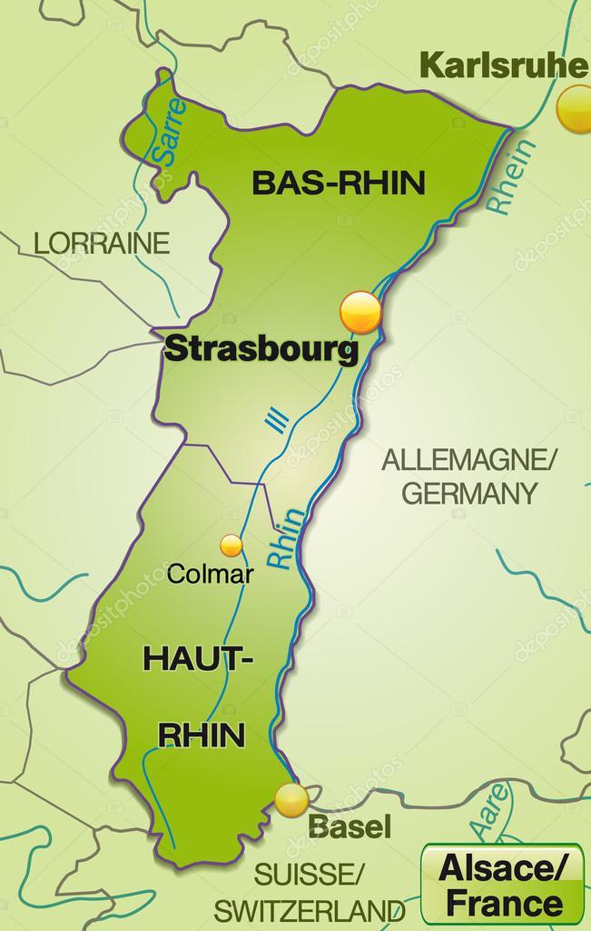 Elsass Auf Karte.Karte Von Elsass Stockvektor C Artalis 40896275