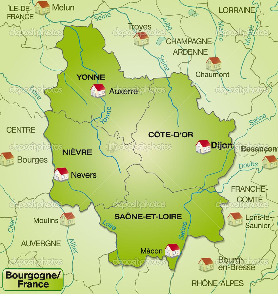 Map Of Burgundy Stock Vector C Artalis 40896719