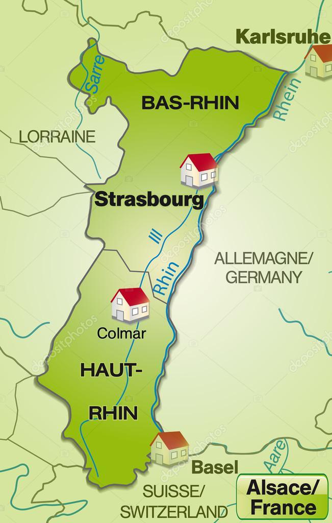 Carte Lalsace.Carte De L Alsace Image Vectorielle Artalis C 40896789