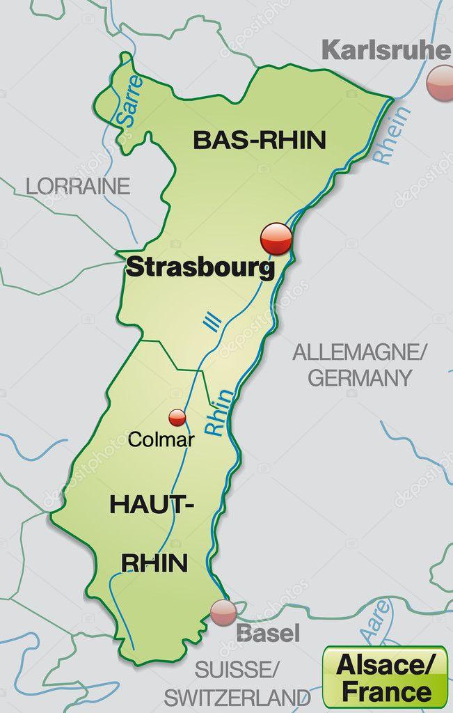 Carte Lalsace.Carte De L Alsace Image Vectorielle Artalis C 40897205