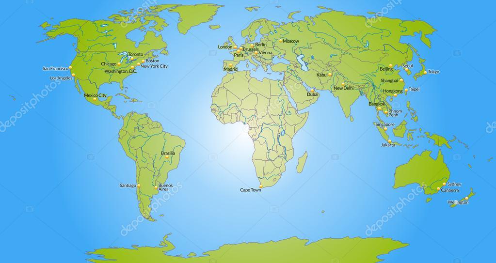 karta över världen karta över världen — Stock Vektor © artalis #40899191 karta över världen