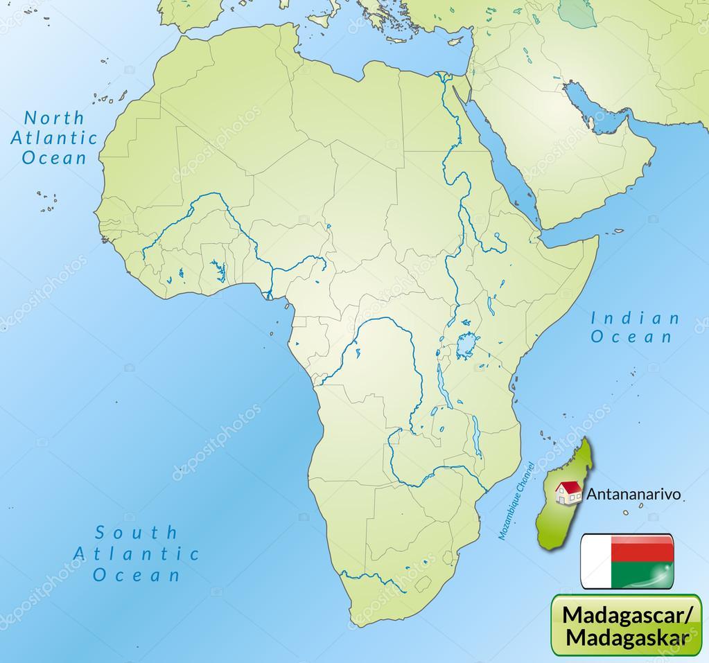 madagaskar karta karta över Madagaskar — Stock Vektor © artalis #40901413 madagaskar karta