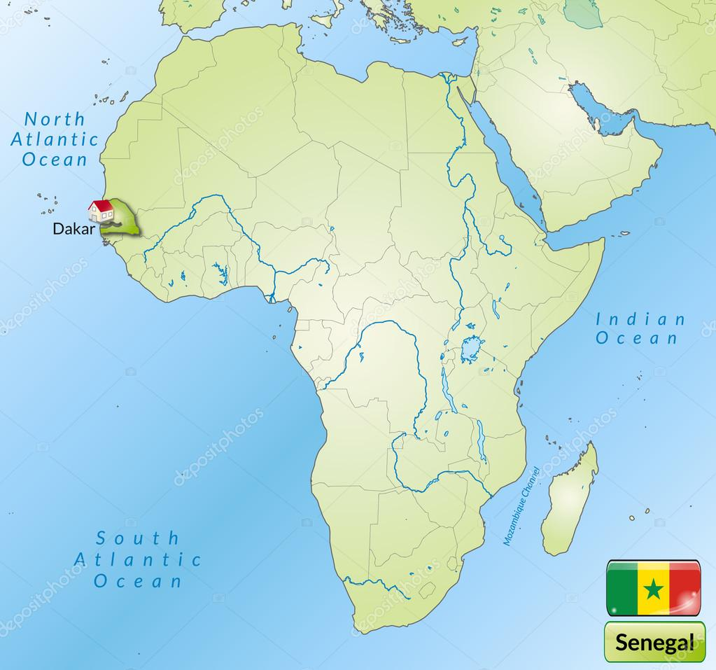 Map Of Senegal Stock Vector C Artalis 40901699