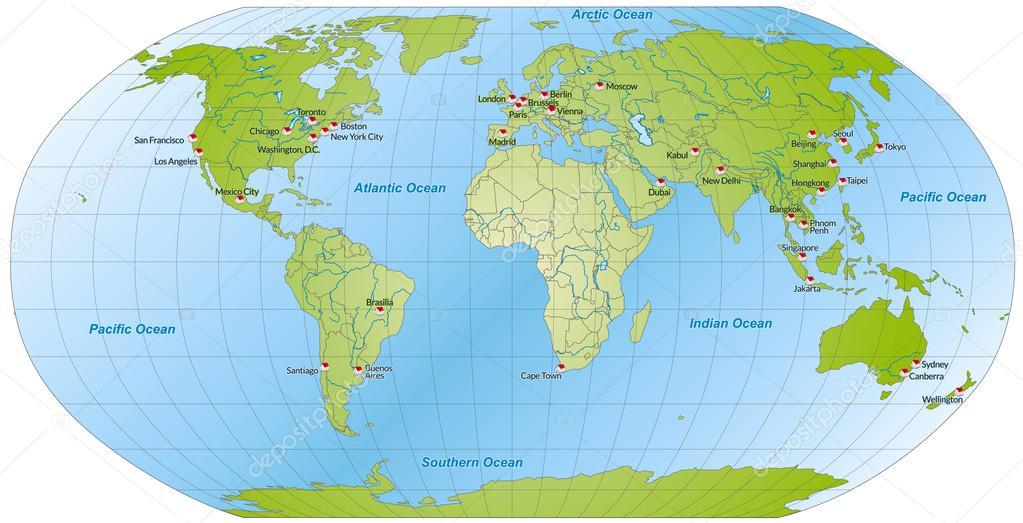 karta över världen karta över världen — Stock Vektor © artalis #40904215 karta över världen