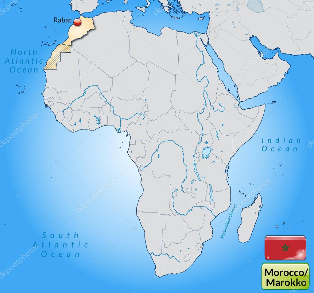 maroko mapa Mapa Maroko — Grafika wektorowa © artalis #40908419 maroko mapa