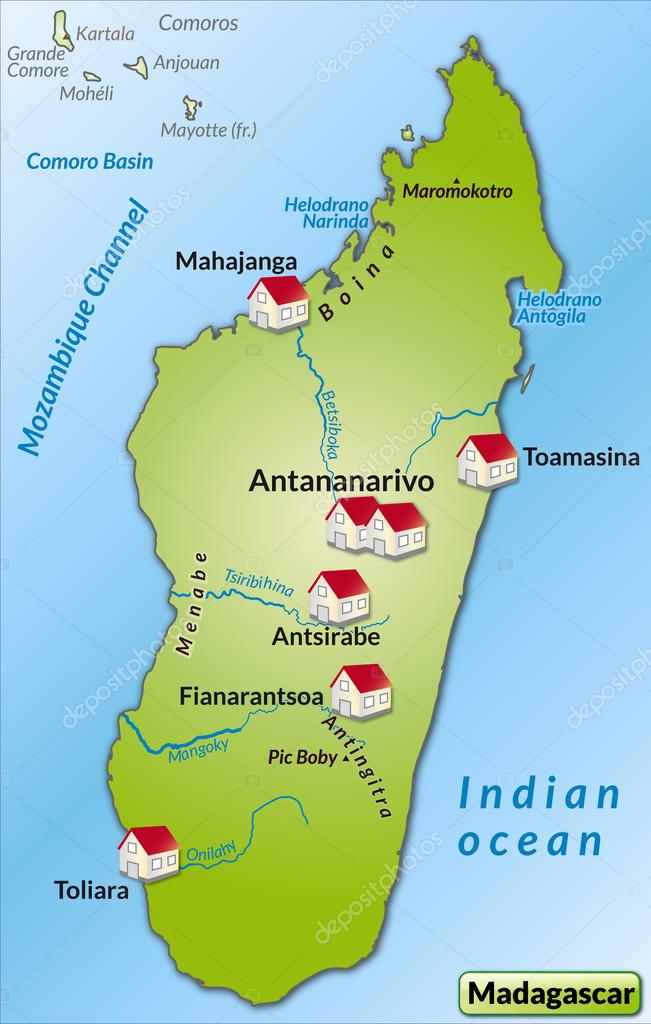 Map of Madagascar Stock Vector artalis 40911437