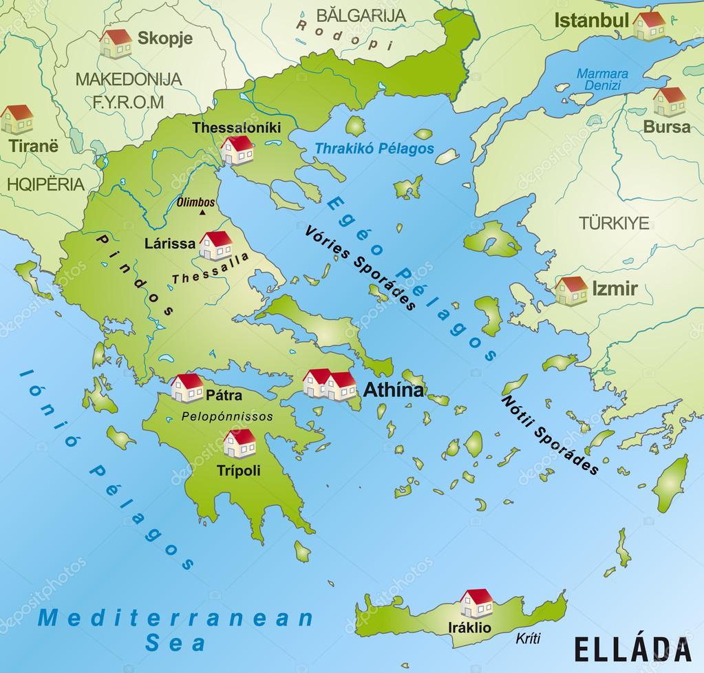 Map of Greece Stock Vector artalis 40912021