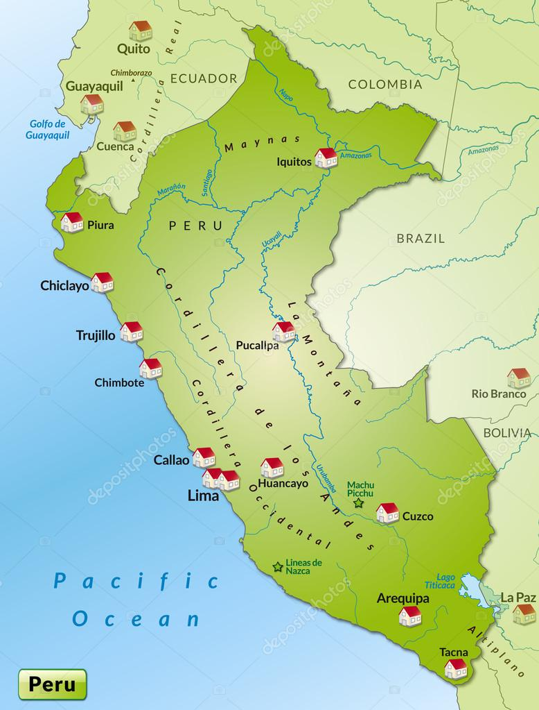 Map of Peru Stock Vector artalis 40912433
