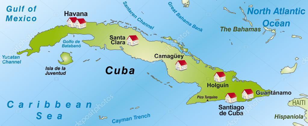 kuba térkép Map of Cuba — Stock Vector © artalis #40912713 kuba térkép