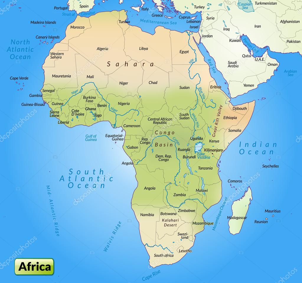 karta av afrika karta över Afrika — Stock Vektor © artalis #40914371 karta av afrika