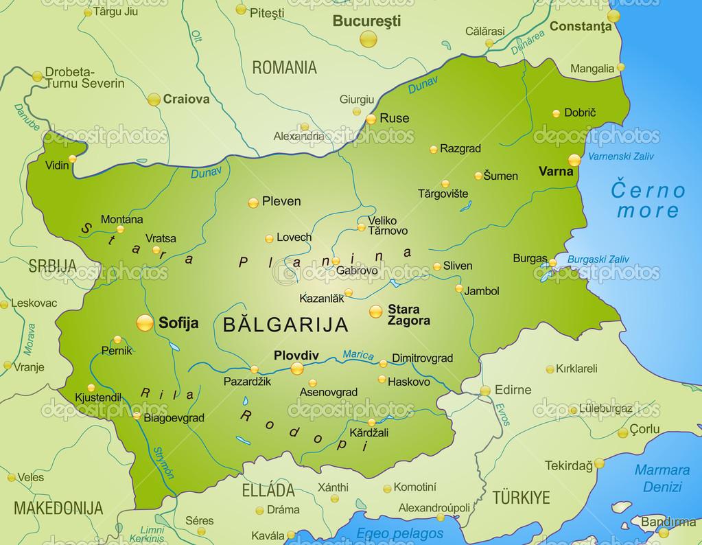 bulgária térkép Bulgária Térkép — Stock Vektor © artalis #40917473 bulgária térkép