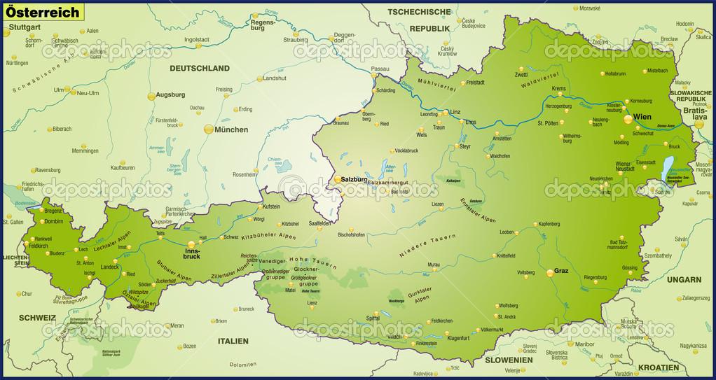 karta österrike karta över Österrike — Stock Vektor © artalis #40917683 karta österrike