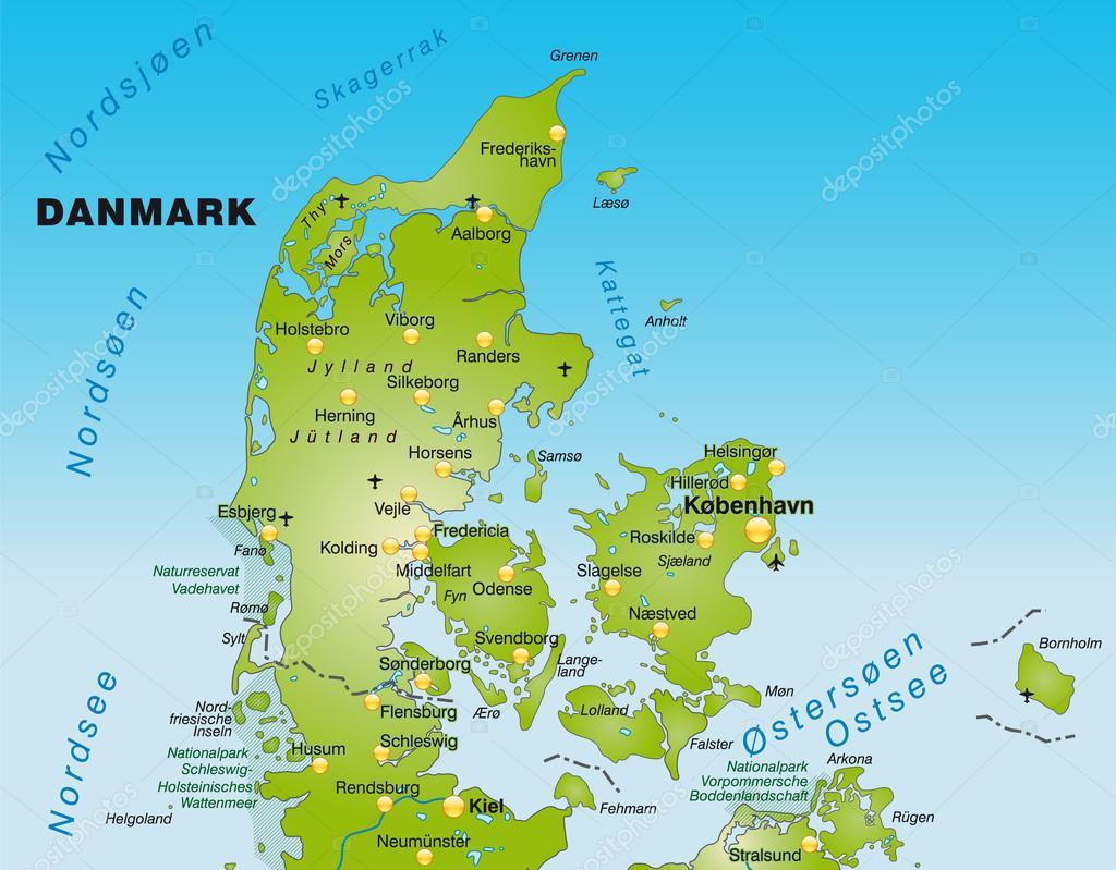 karta över danmark karta över Danmark — Stock Vektor © artalis #40917881 karta över danmark