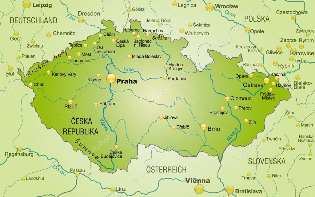 Map Of Czech Republic Stock Vector Artalis - Czech republic map