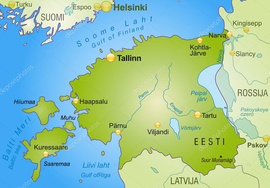 estland karta karta över Estland — Stock Vektor © artalis #40917931 estland karta