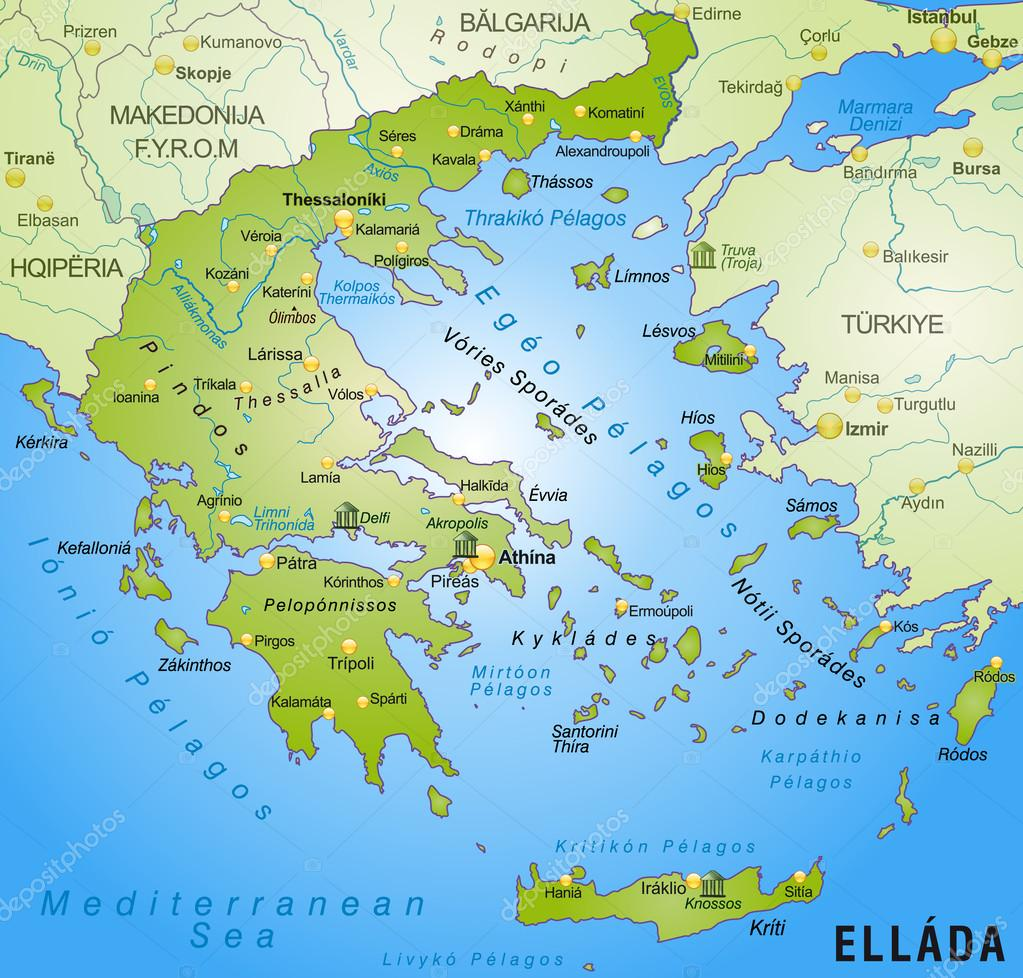 görögország térkép Görögország Térkép — Stock Vektor © artalis #40918153 görögország térkép