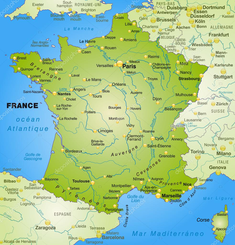 karta över frankrike karta över Frankrike — Stock Vektor © artalis #40918193 karta över frankrike
