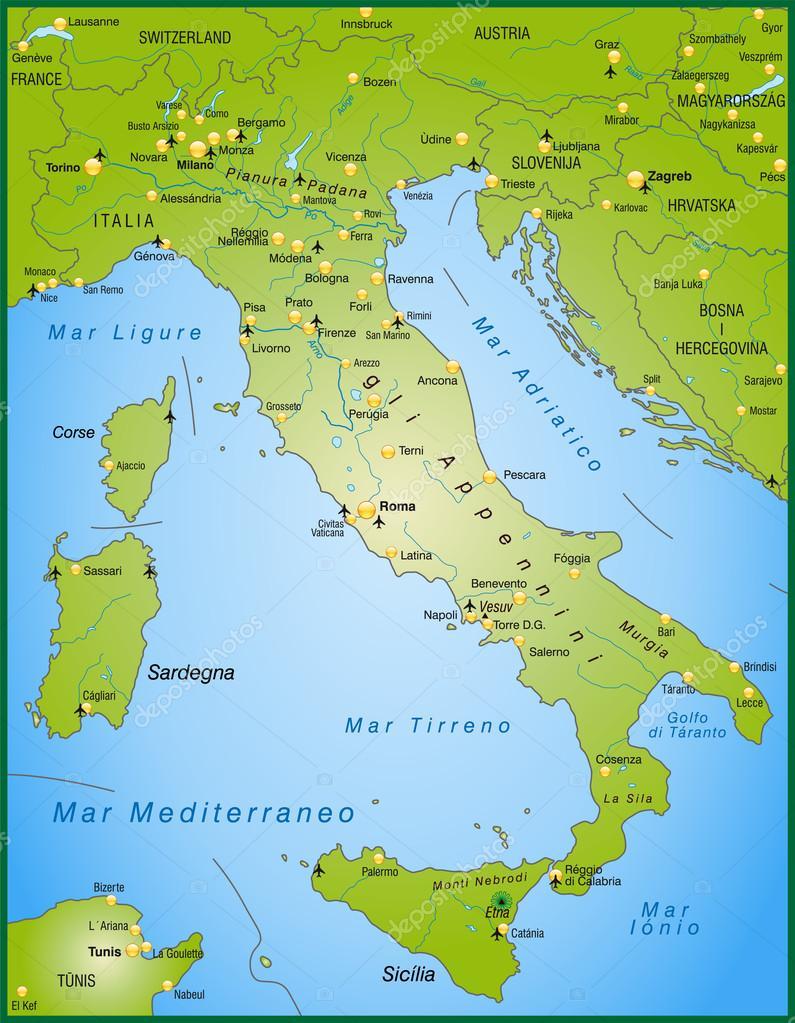 olaszország térkép Olaszország Térkép — Stock Vektor © artalis #40918269 olaszország térkép