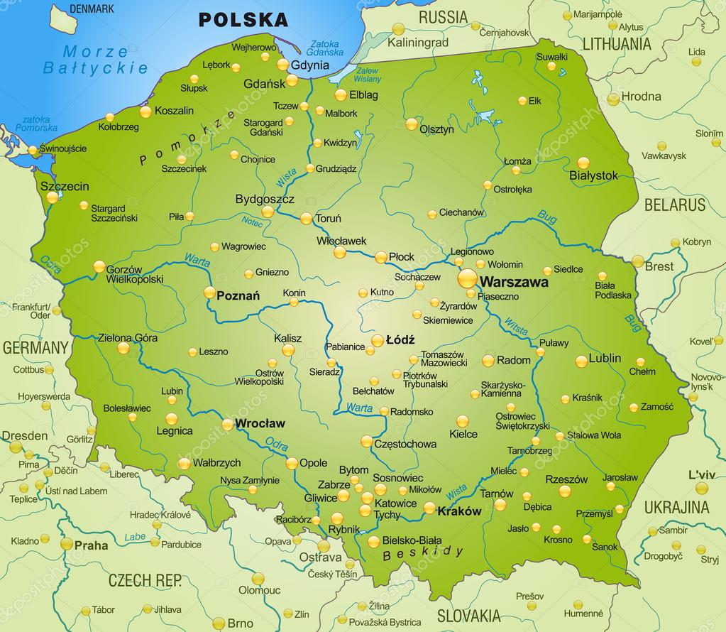 Lomza Poland Map.Map Of Poland Stock Vector C Artalis 40918559