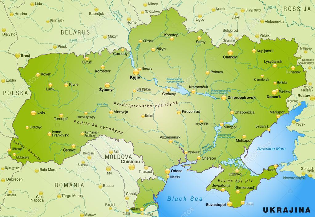 ukrajna térkép Ukrajna Térkép — Stock Vektor © artalis #40918855 ukrajna térkép