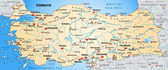 Photo Map of Turkey