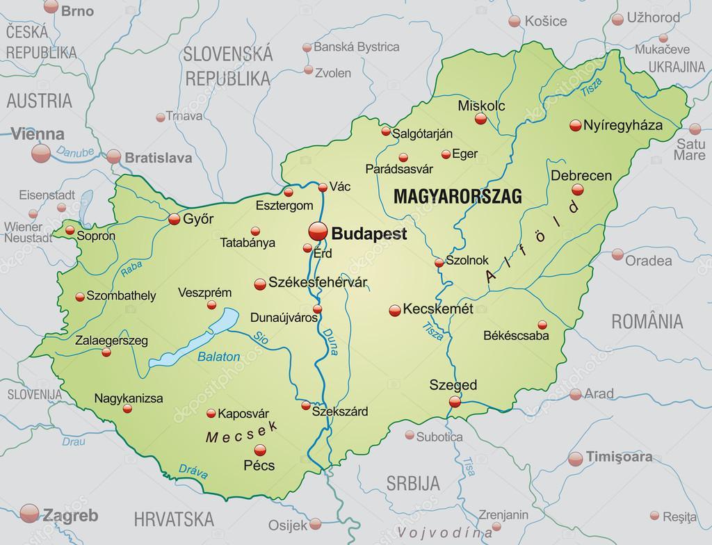 ungern karta karta över Ungern — Stock Vektor © artalis #40920697 ungern karta