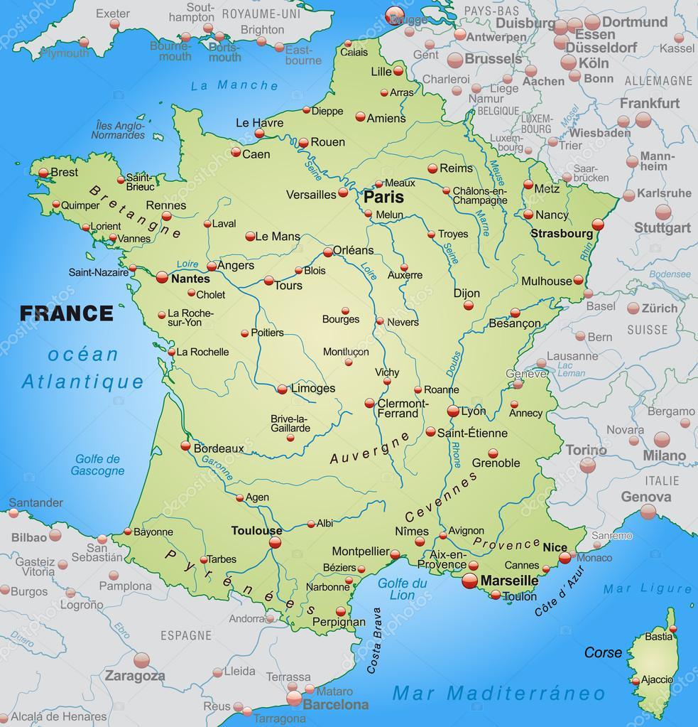 karta över frankrike karta över Frankrike — Stock Vektor © artalis #40920905 karta över frankrike