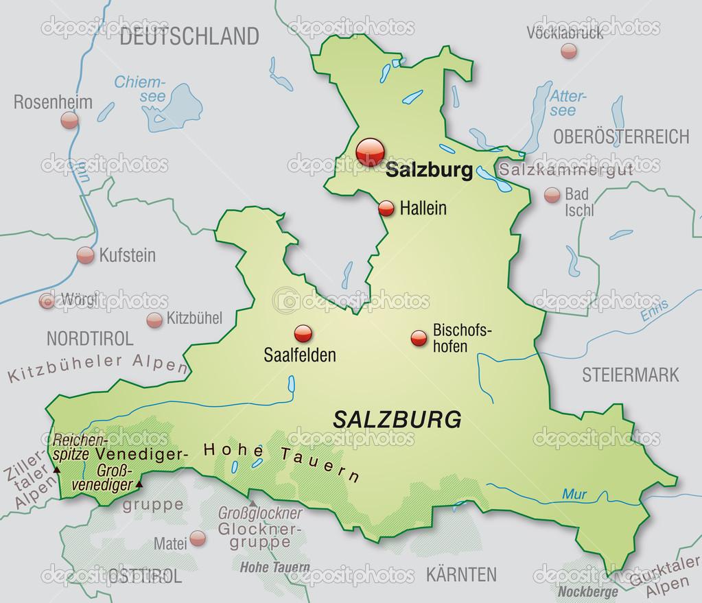 Salzburg Karte