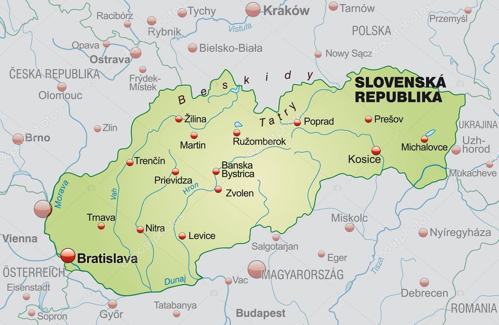 Map Of Slovakia Stock Vector C Artalis 40921111