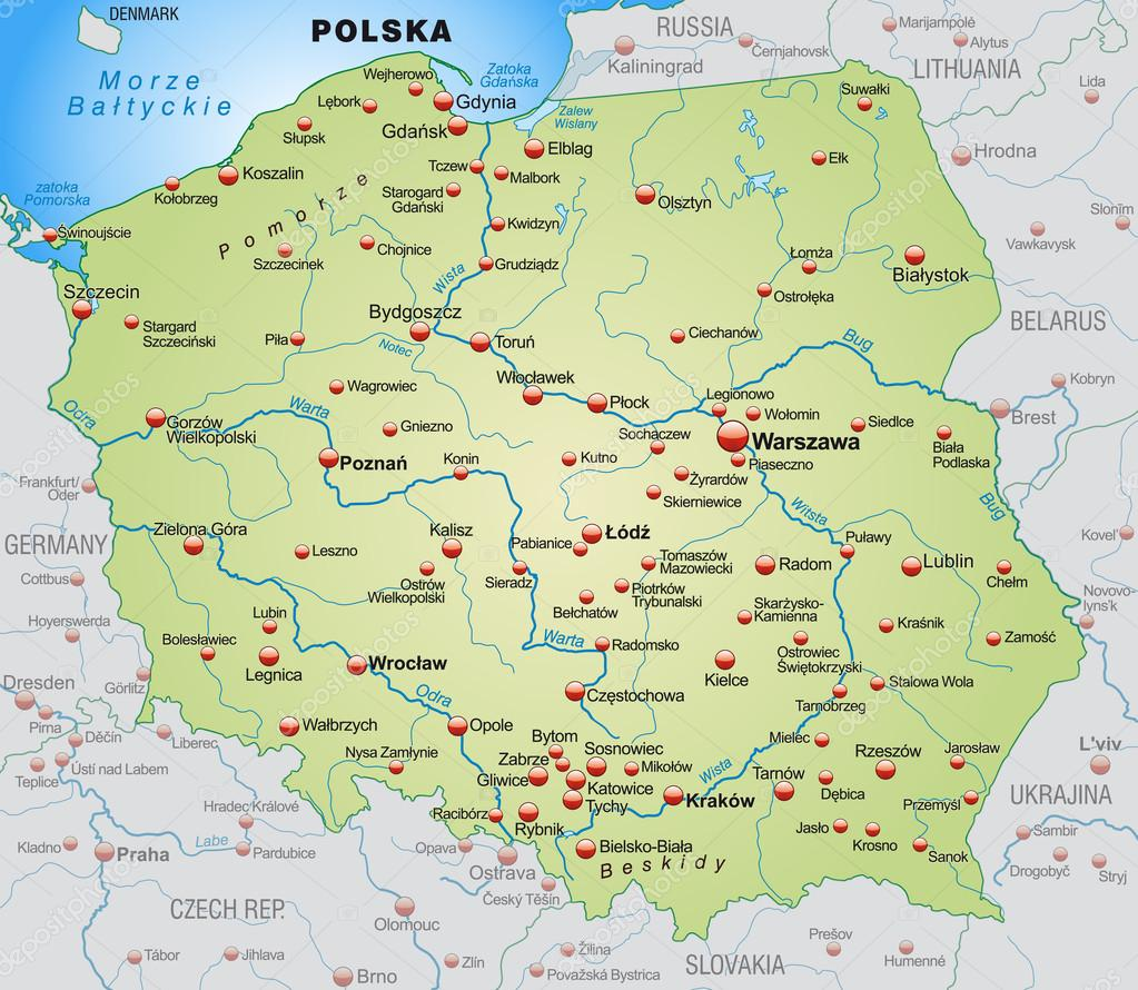 Map Of Poland Stock Vector C Artalis 40921245
