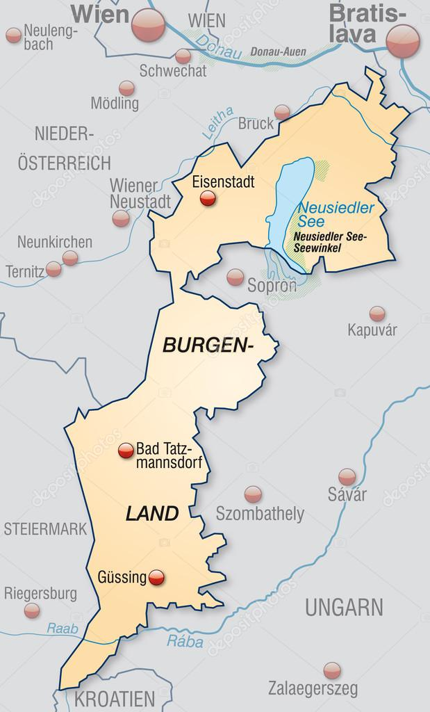 burgenland térkép Térkép Burgenland — Stock Vektor © artalis #40922763 burgenland térkép