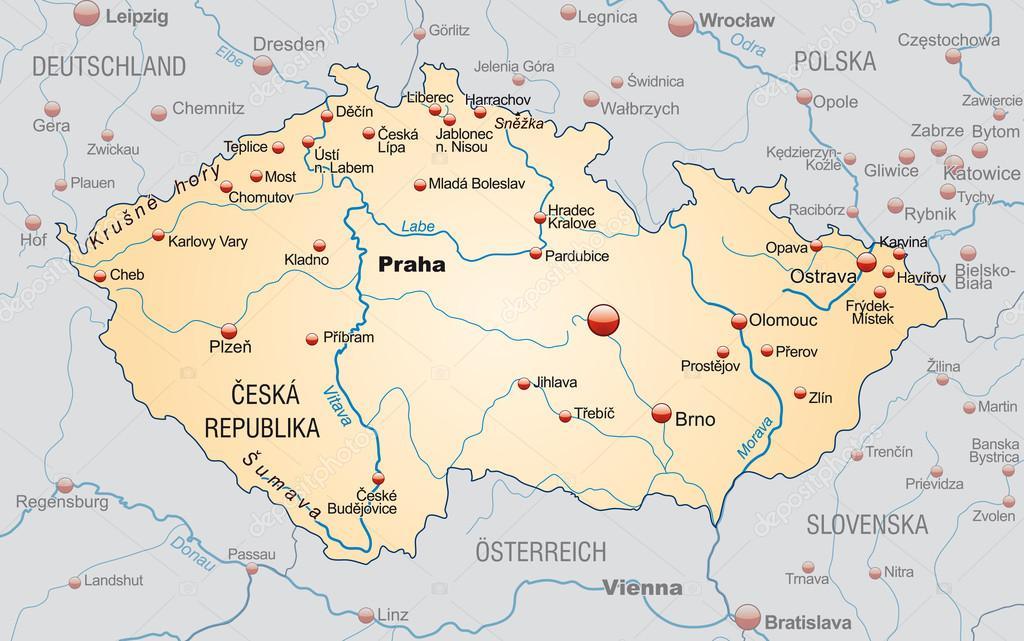 Map of Czech Republic Stock Vector artalis 40923097